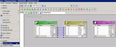 que es layout en informatica mapping between source and target tables