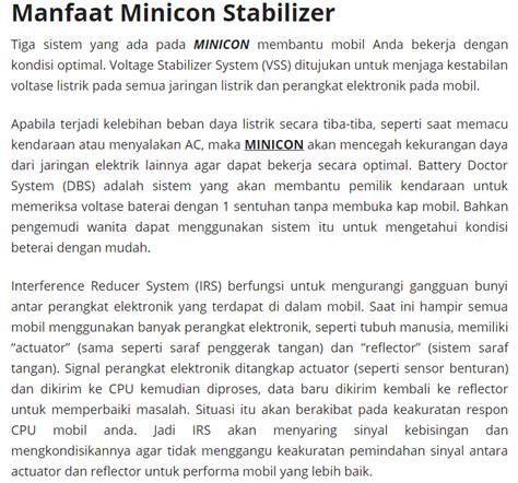 Minicon Alat Penghemat Bbm Mobil Dan Meningkatkan Performa Mobil review minicon penghemat bbm