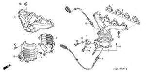 2000 Honda Civic Exhaust System Diagram Honda Store 2000 Civic Exhaust Manifold 1 Parts