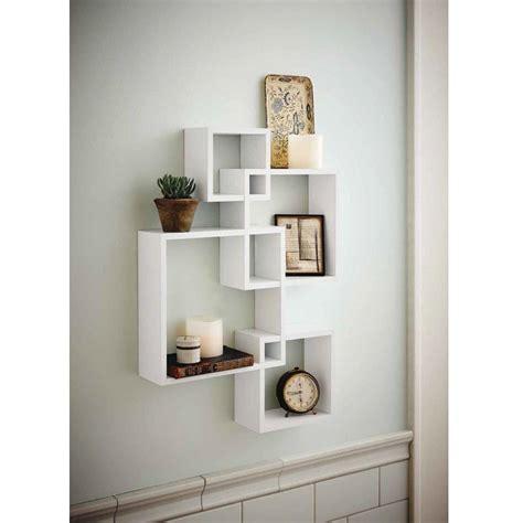 zimtown set   decorative wood floating wall shelf