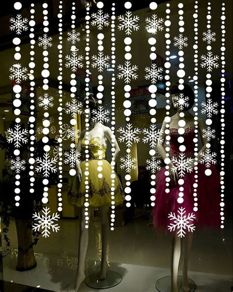 bead curtains for windows christmas snowflake decals stickers bead curtain for