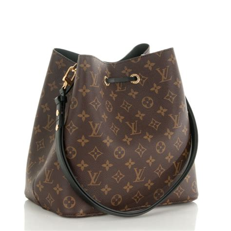 Louis Vuitton Neo Noe Black louis vuitton neo noe black monogram canvas lyxen se