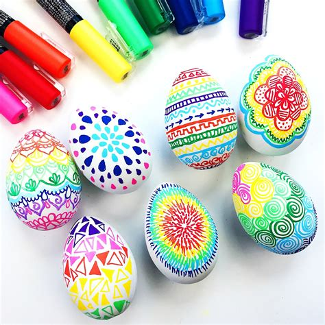 Colorful Diy Easter Doodle Eggs Color Made Happy