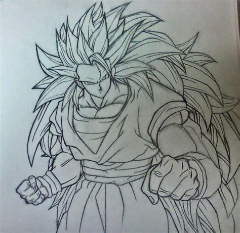 ssj3 goku sketch version by rondostal91 on deviantart