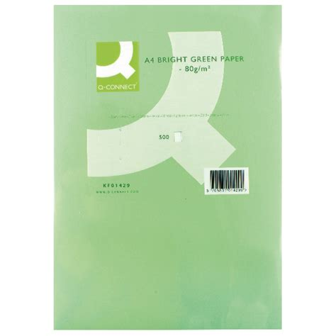 Bright Green Printer Paper - q connect bright green copier a4 paper 80gsm 500 pack