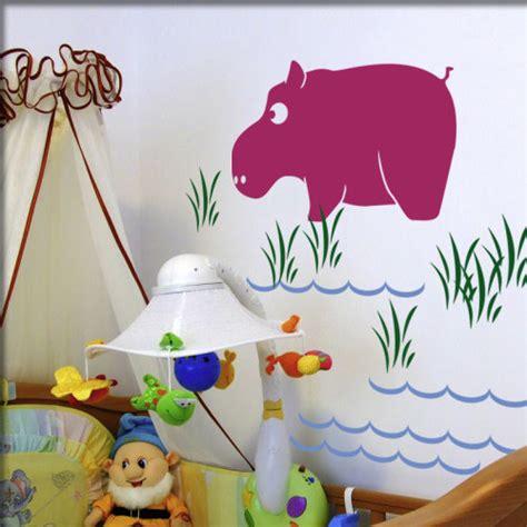 kinderzimmer bilder nilpferd kinderzimmer wandsticker wandmotive wandkleber