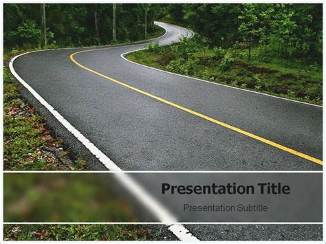 Highway Powerpoint Templates Free Download Playitaway Me Road Powerpoint Template