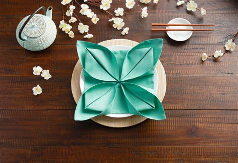 Table Napkin Origami - 3 creative origami napkin fold ideas