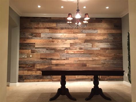 Wood Accent Wall In Dining Room The Hughes Dining Room Reclaimed Wood Accent Wall Fama