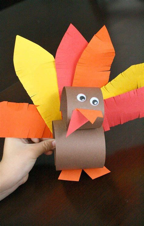 Turkey Paper Craft - thanksgiving turkey craft turkey craft thanksgiving