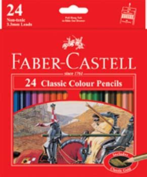 Pensil Warna Faber Castell Classic 24 faber castell classic pencils box 24 colours pencils coloured school office supplies