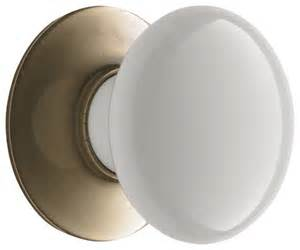 Porcelain Kitchen Cabinet Knobs by Porcelain Cabinet Knob With Brass Backplate Traditional