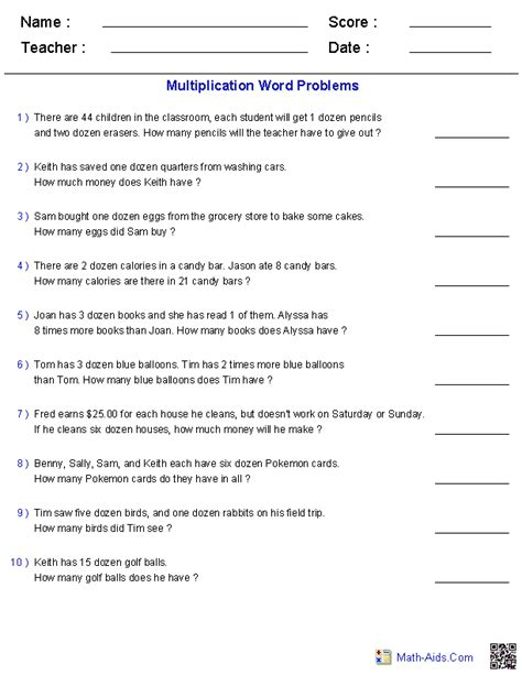 Math Problems For 3rd Grade Worksheet by 4 Best Images Of 9th Grade Word Problems Printable 9th
