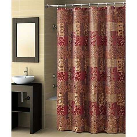 croscill galleria brown shower curtain buy brown shower curtains from bed bath beyond