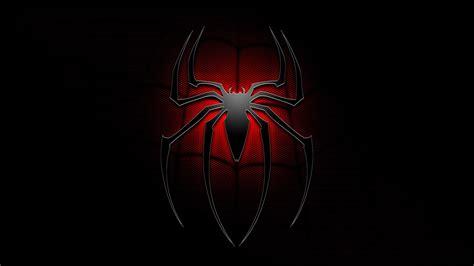 wallpaper spiderman hitam cool spiderman logo wallpaper 1920x1080 27645