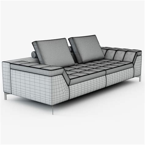 contemporary settee furniture contemporary sofa cine by marcus ferreira 3d model max obj