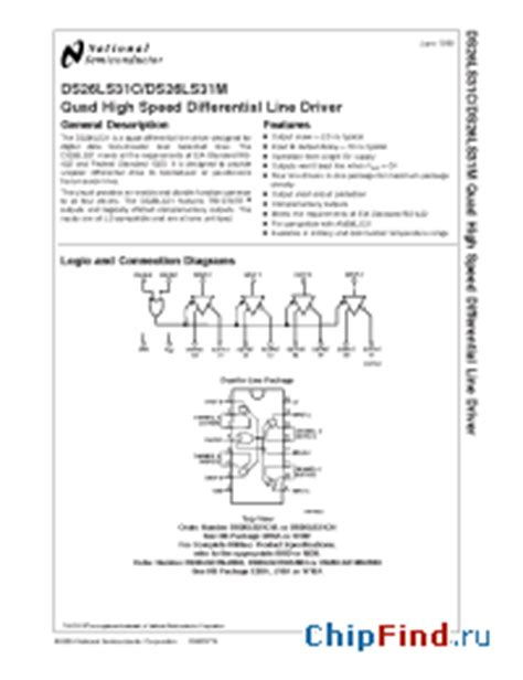 motorola integrated circuits data sheets 26ls31 datasheet pdf blogsrental