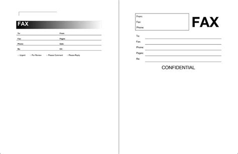12 free fax cover sheet for microsoft office google docs
