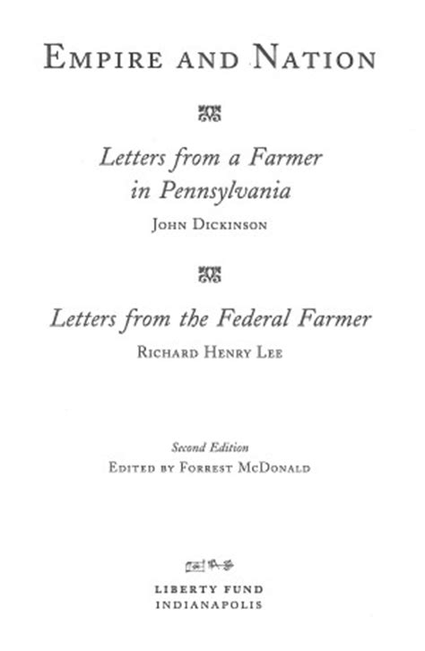 Letters To A Farmer