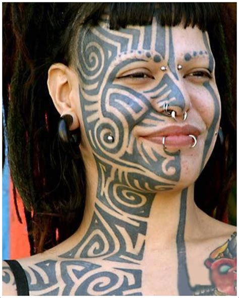 tattoo girl face design tribal full face tattoo designs for girl girl with face