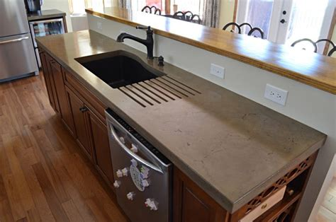 Cement Kitchen Countertops by A Primer On Concrete Countertops Precast Vs Pour In Place