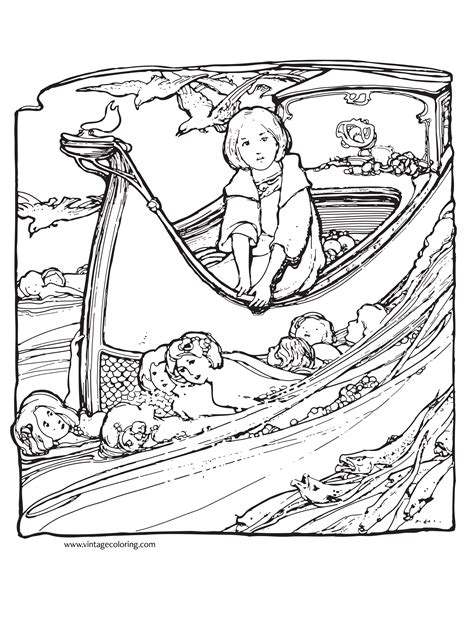 Free Coloring Pages Vintage Vintage Coloring Page