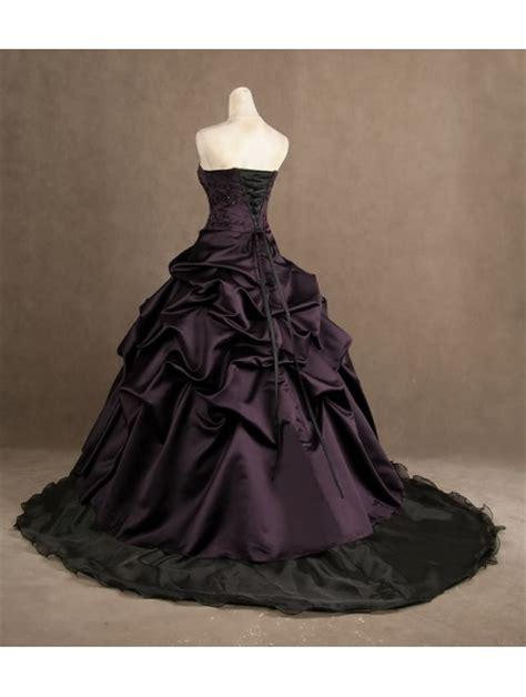 purple strapless gothic wedding dress devilnight co uk
