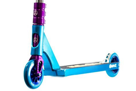 Pro Scooter Deck by Apex Kraken Custom Pro Scooter Blue Purple And Chrome