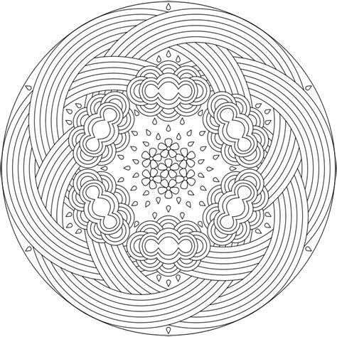 mandala flower coloring pages difficult difficult mandala coloring home