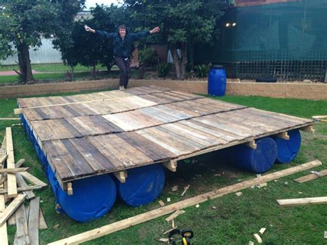 Garden Shed Floor Plans by How To Build A Transportable Pontoon Raft Out Of Old