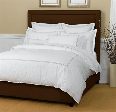 restoration hardware upholstered bed get the look alys beach bedroom popsugar home
