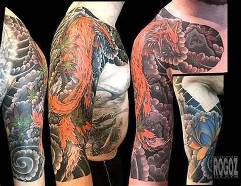 japanese tattoo boston japanese fox sleeve by boston rogoz tattoos