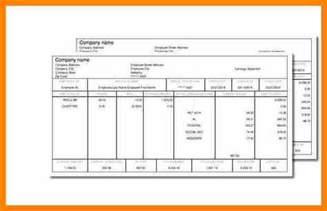 10 Pay Stub Template For 1099 Employee Simple Salary Slip 1099 Template Excel