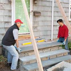 Curb Appeal The Block - set the tread how to clad concrete steps in stone this