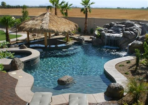 Small Backyard Oasis Ideas A More Back Yard Look Freeform Pools By Cameo Pools 03 Stylish