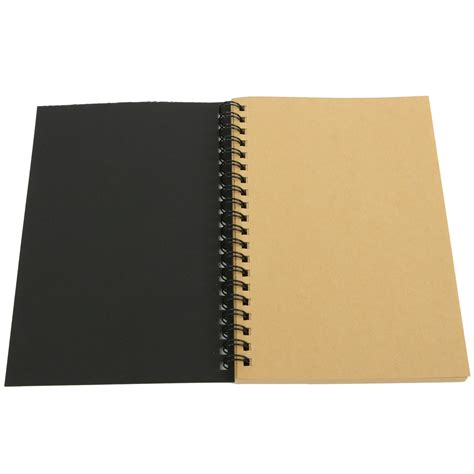 kraft sketchbook 100 sheets spiral bound coil sketch book blank notebook