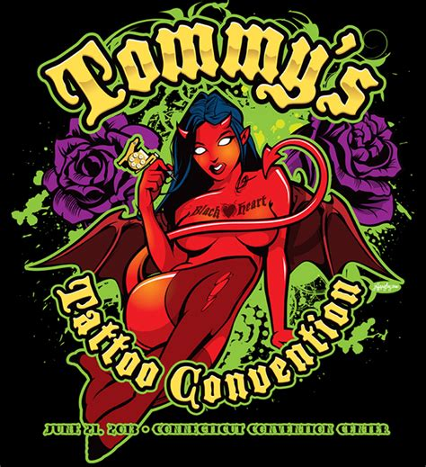 tommy s tattoo supply s convention logo on behance