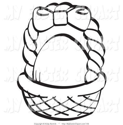 empty easter basket coloring page coloring home