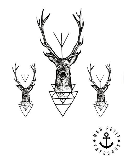tatouage temporaire cerf et bois de cerf jagermeister