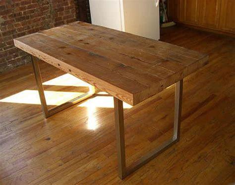 diy      reclaimed wood desk  scrap