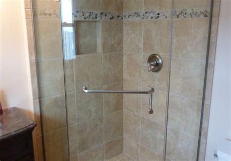 corner glass shower doors corner shower doors frameless neoangle tempered glass