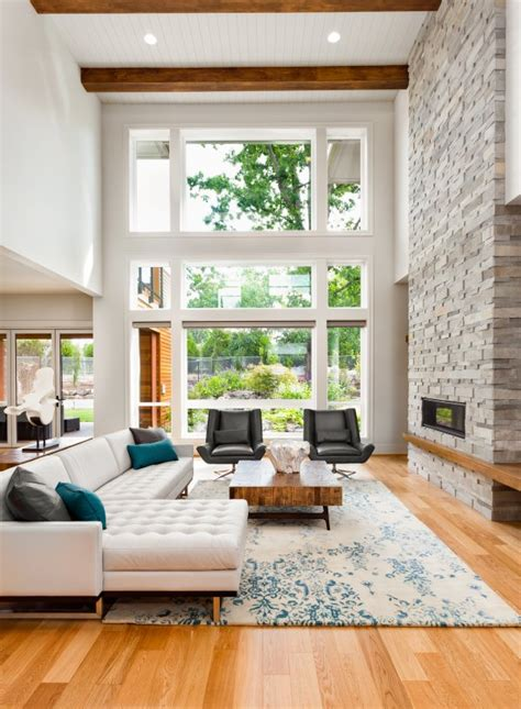 Living Room Near Window Contemporary And Midcentury Modern Themes With Gorgeous