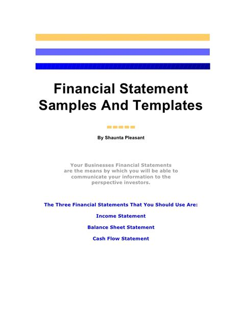 statement of means template image collections templates