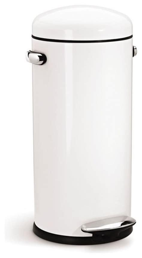retro step trash can white modern kitchen bins by