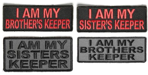 am my brothers keeper black i am my brothers keeper and i am my keeper patches