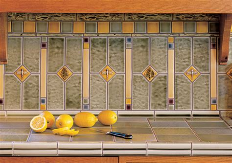 arts crafts kitchen backsplash pratt larson