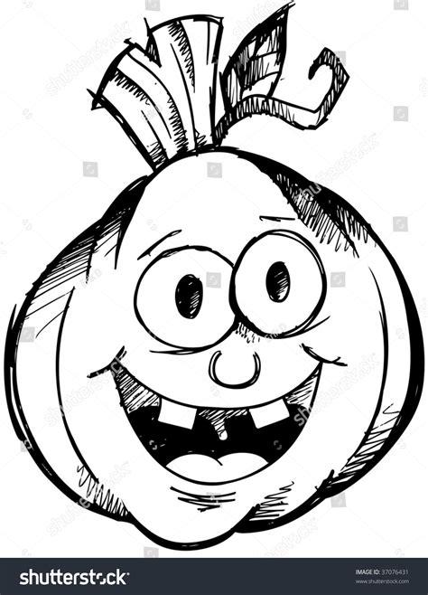 doodle o lantern jackolantern sketch vector doodle stock vector 37076431