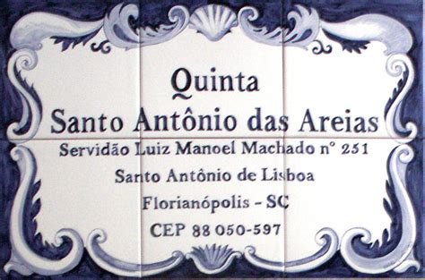 azulejo in english blue and white tile panel with text atelier de ceramica