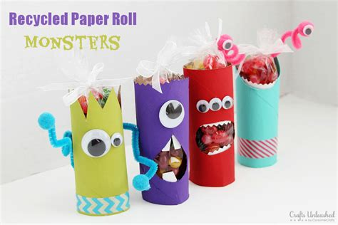 paper rolling craft toilet paper roll crafts recycled treat holders