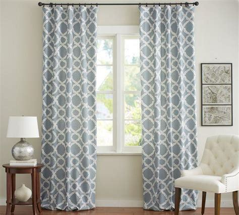 trellis drapes blue and white trellis drapes
